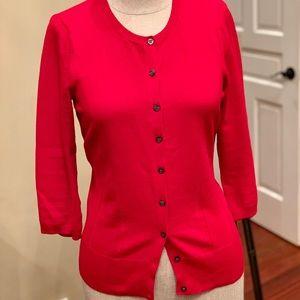 Red ... super soft cardigan
